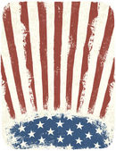 American patriotic poster background Vintage style poster templ