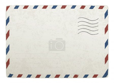 Vintage mailing envelope. Vector template for your designs, EPS