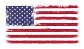 Hvězdy a pruhy. grunge verze americké vlajky s 50 hvězd