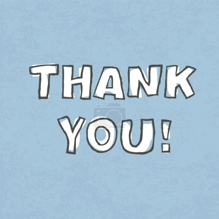 Illustration for Thank you. Vector illustration, EPS 10 - Royalty Free Image