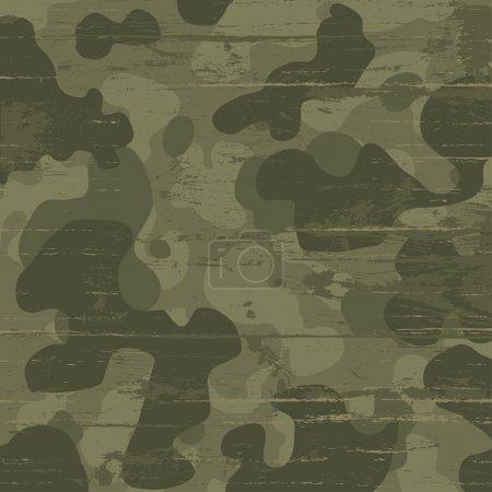 Illustration for Camouflage military background. Vector illustration, EPS10 - Royalty Free Image