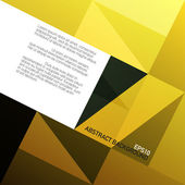 Golden triangles background with space for text Vector EPS10