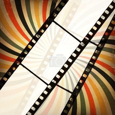 Illustration for Grunge cinema background. Vector, EPS10 - Royalty Free Image