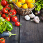 Organic food background; Farmers Vegetable Market...