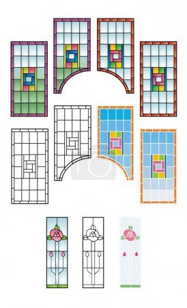 Traditional stained glass patterns