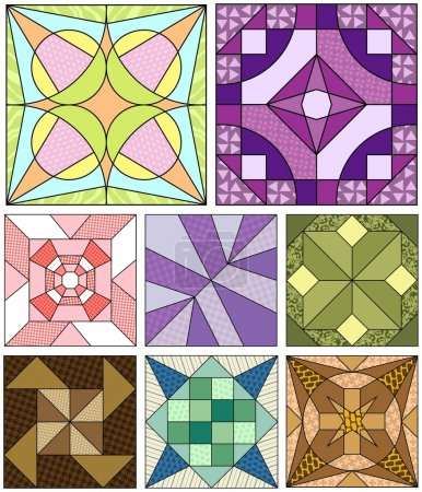 Old fashioned quilt squares