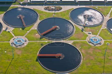 Water tanks of a sewage plant