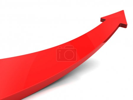 Photo for Red arrow, isolated on white background - Royalty Free Image