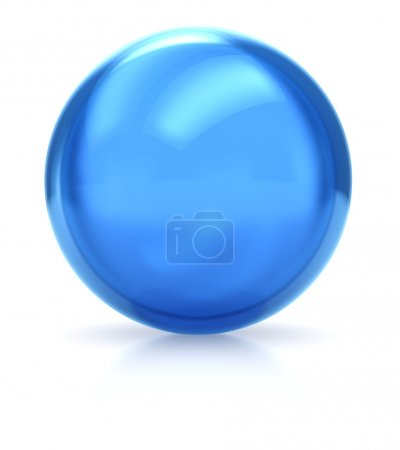 Photo for 3d of blue ball isolated on a white background - Royalty Free Image