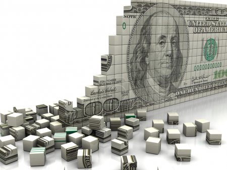 Photo for Finance concept: puzzle dollar with pieces near by - Royalty Free Image