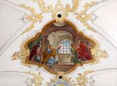 "Постер, картина, фотообои ""Фрески в церкви Санкт-Петер в Мюнхене"""