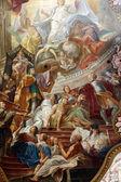"""Постер, картина, фотообои """"потолочные фрески в церкви Святого Петра в Мюнхене, Германия"""""""