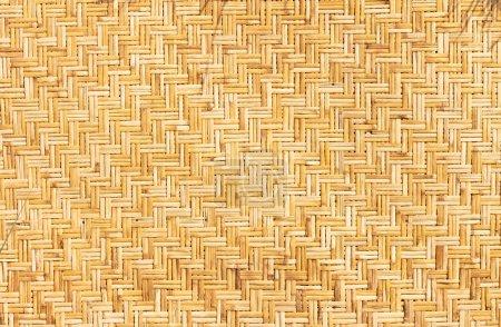 Photo pour Pailles tissées de feuilles de palmier comme fond horizontal - image libre de droit