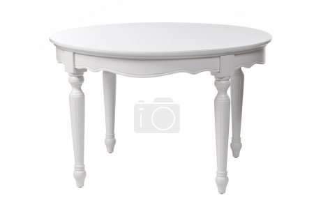 Elegant white table, with clipping path