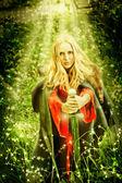 Nő boszorkány csoda Enchanted-erdő