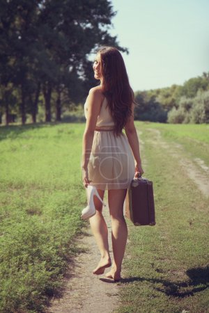 Girl and road.