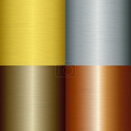 Illustration for Brushed metal set, vector illustration - Royalty Free Image