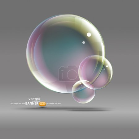 Illustration for Bubbles on a gray background - Royalty Free Image