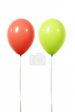 Balloons red and green
