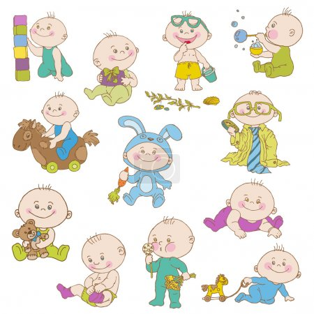 Baby Boy Doodle Set - for design, scrapbook, shower card