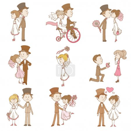 Wedding Doodles - Design Elements - for Scrapbook, Invitation