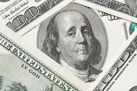 Photo for Concept of economical crisis - saddened Franklin cry on the hundred dollar bill - Royalty Free Image