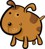 Cartoon illustration of cute spotted dog or puppy
