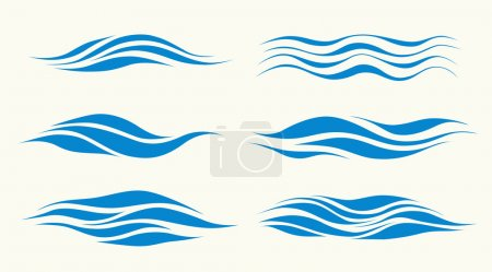 Illustration for Set vektor waves from element of the design - Royalty Free Image