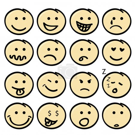 Cute face icons