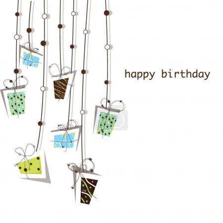 Birthday and presents background