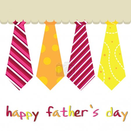 Illustration for Father's day card as greeting card, occasions and others - Royalty Free Image