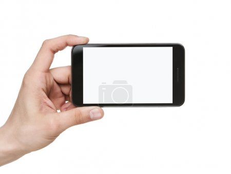 Blank mobile smart phone with clipping path