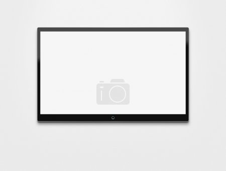 Blank flat screen TV with clipping path