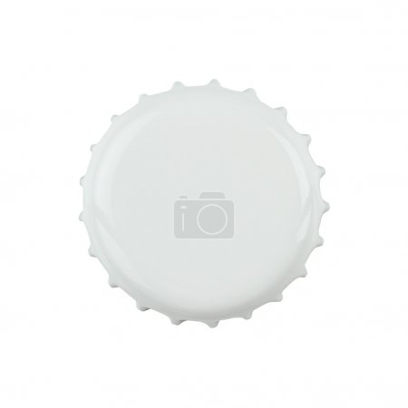 Photo for White bottle cap isolated on white background with clipping path - Royalty Free Image