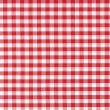 Classic linen red and white checked tablecloth tex...