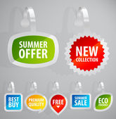 Set of colorful advertising stickers