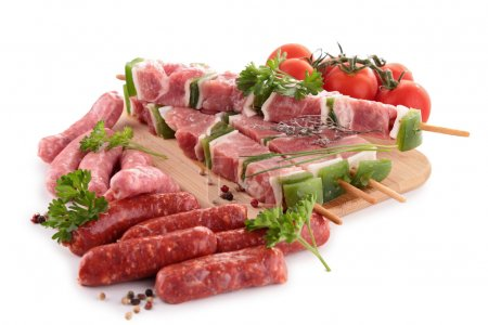 Photo for Assortment of raw meats - Royalty Free Image