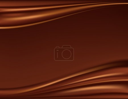 Illustration for Abstract chocolate background, brown abstract satin, mesh vector illustration - Royalty Free Image