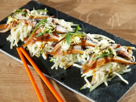 Closeup oriental food