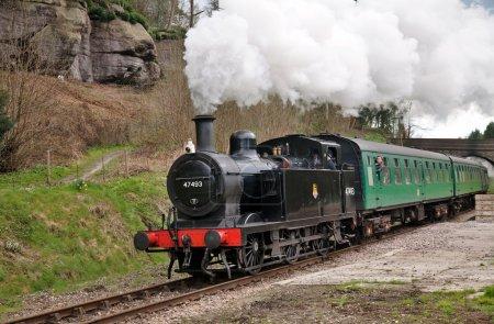 Scenic steam train