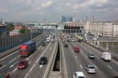 Moscow. Third Ring Road in Andreevsky Bridge.