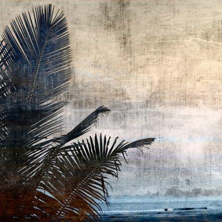 Grunge palm-2