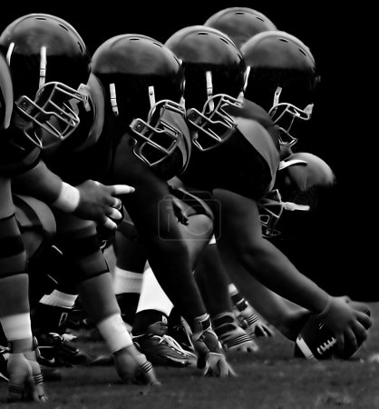 Photo for Impressive Image of the forward Line in American Football - Royalty Free Image