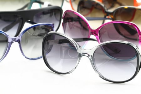 Photo for Collection of sunglasses on white background - Royalty Free Image