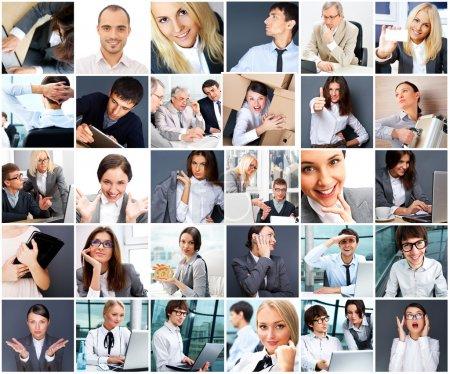 Photo pour Collection de différents portraits - image libre de droit