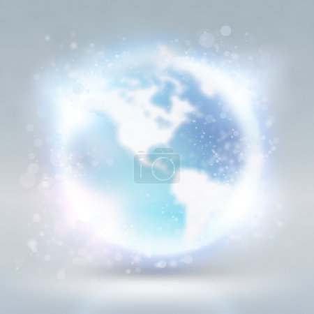 Abstract background with earth globe. Internet technology concep