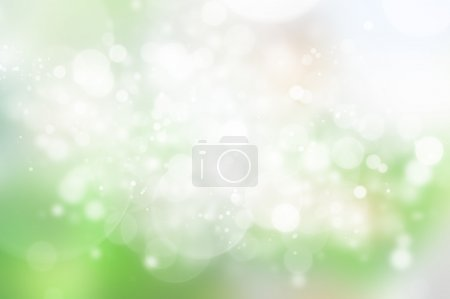 Natural green paradise background with selective focus