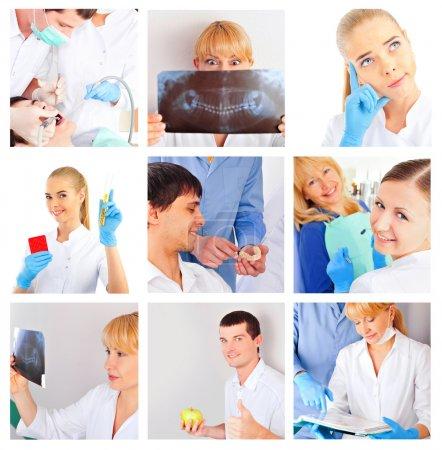 Medical staff portrait set