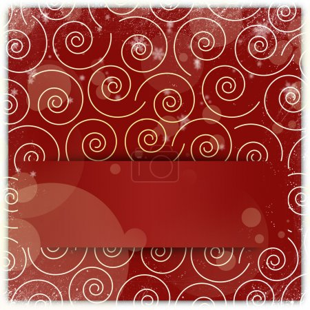 Swirl christmas ornament background with copyspace applique