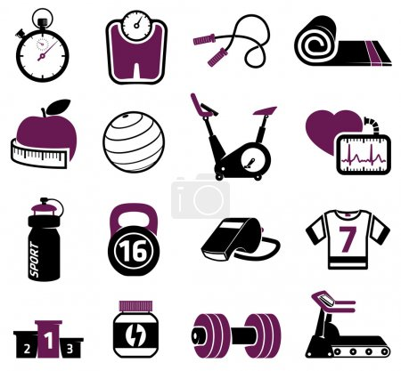 Illustration for Fitness equipment collection - Royalty Free Image